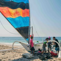 Jukung on Amed White Sand Beach thumbnail