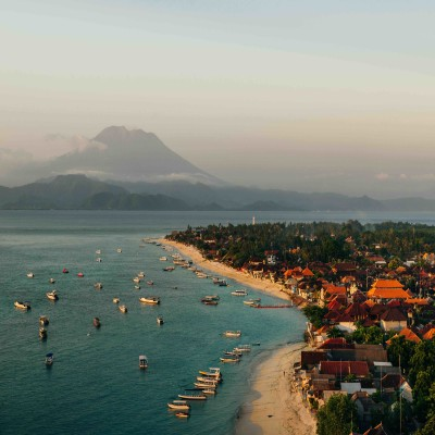Jungut Batu Beach Drone View in Nusa Lembongan thumbnail