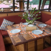 Restaurant onboard cruise Raja Ampat thumbnail