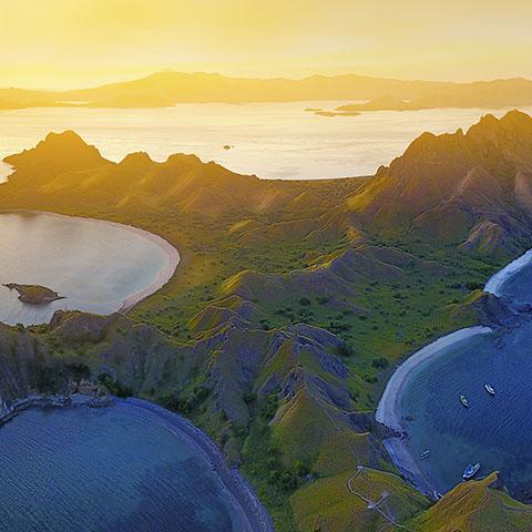 Beautiful Sunset in Padar Island