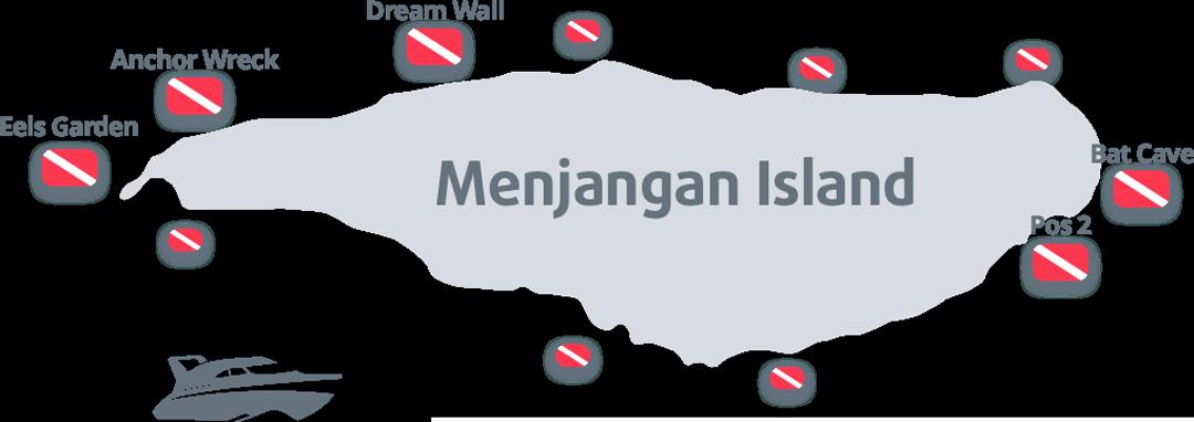 Menjangan Dive Sites Map