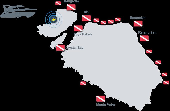 Dive Sites in Nusa Lembongan