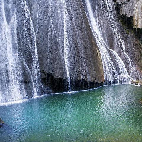 Natural Pool Under Batanta Waterfall