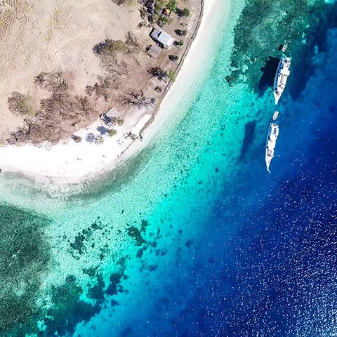Sebayur Islands Drone view