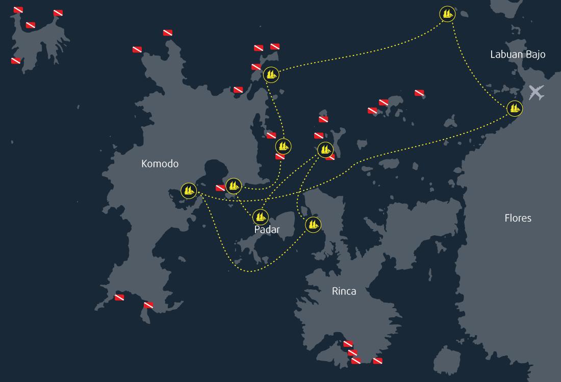 5 Days 4 Nights Snorkeling Cruise Itinerary Komodo